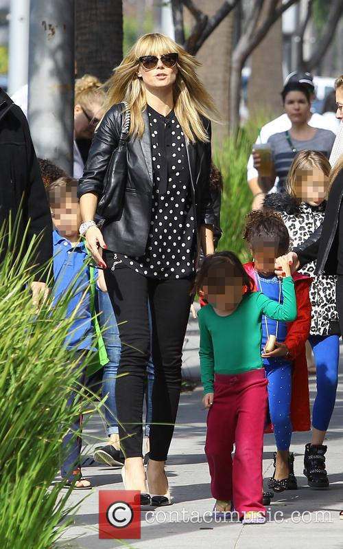 Heidi Klum out and about with her children