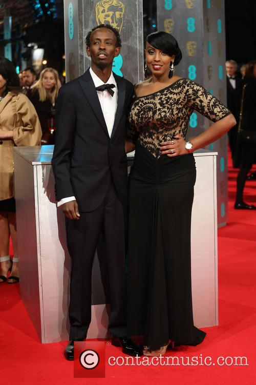 Barkhad Abdi and Wife 1