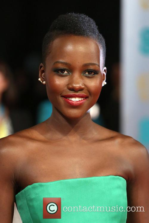 Oscar nominee Lupita Nyong'o, shines on the BAFTA red carpet