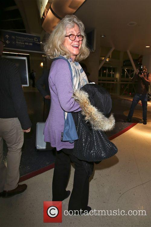 Blythe Danner arriving at LAX
