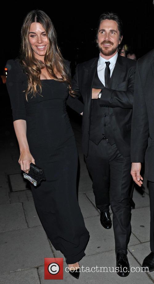 Christiaan Bale and Wife Sibi dine at Hakkasan...