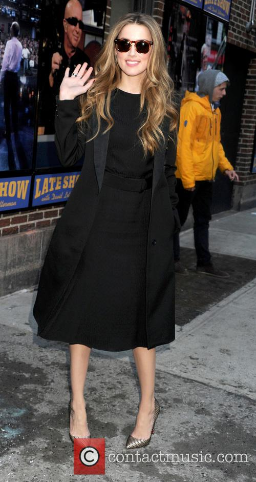 Amber Heard, The Late Show, Ed Sullivan Theater