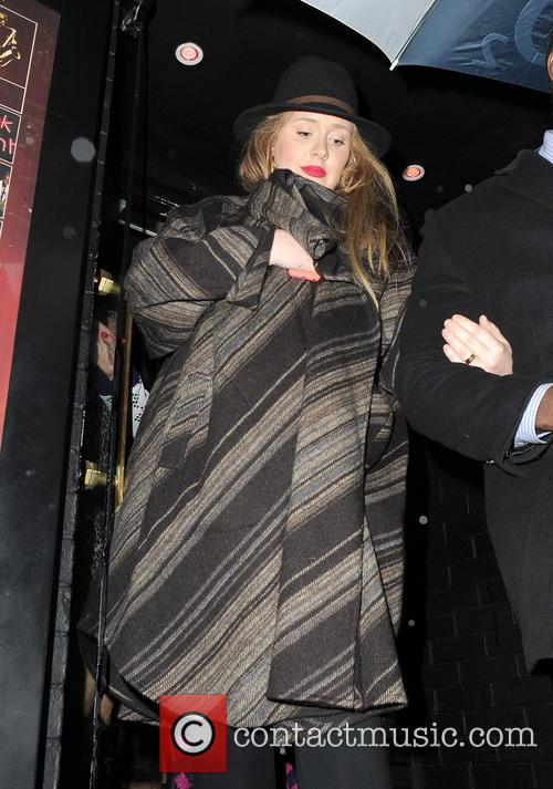 Adele seen leaving a Prince gig at the...