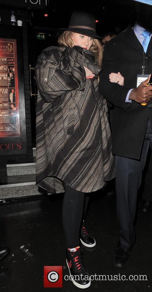 Adele leaving a Prince gig at the famous...