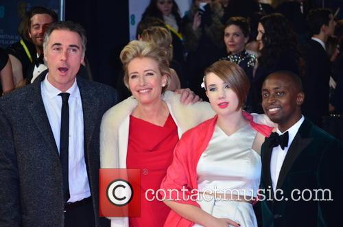 Emma Thompson, Gaia Romilly Wise and Greg Wise