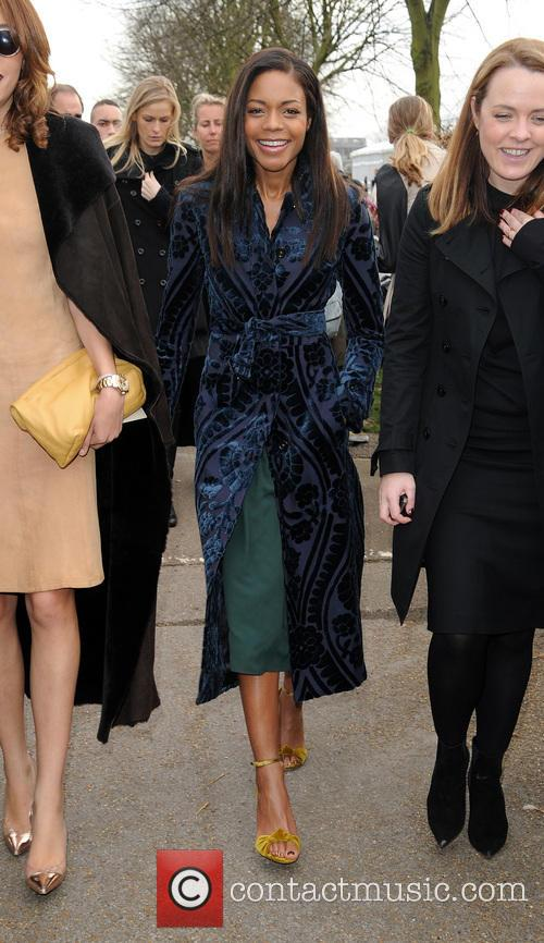 Naomi Harris at London fashion week