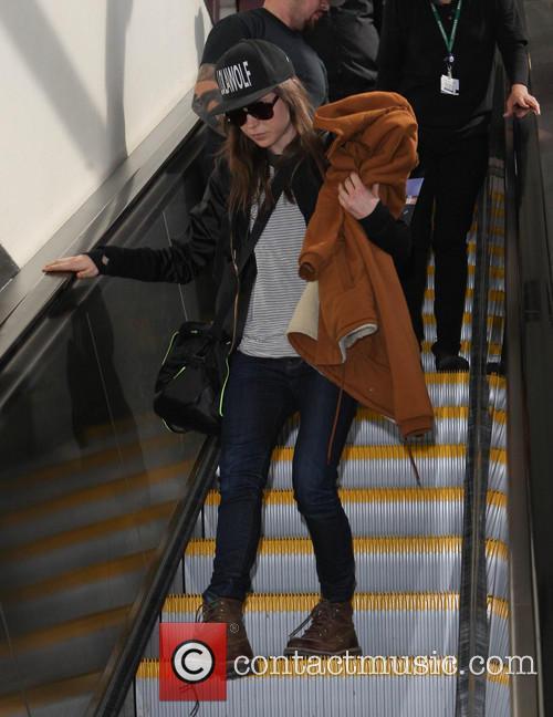 Ellen Page arrives at LAX