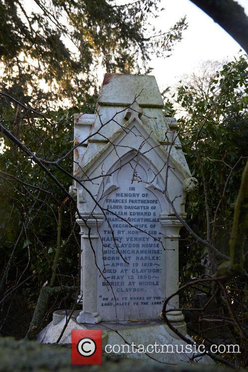 Fallen tree on Florence NIghtingale's Headstone