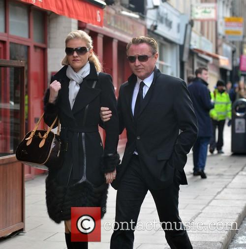 Michael Flatley and wife out and about in...