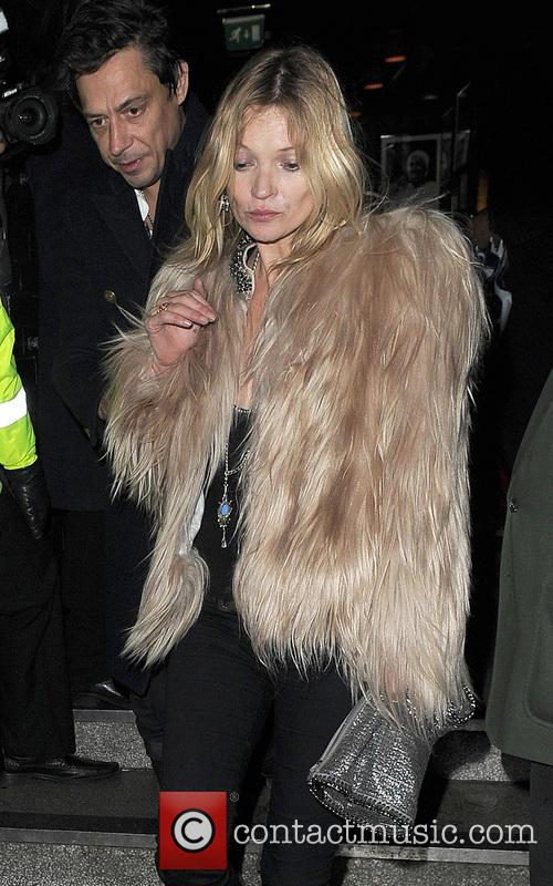 Kate Moss leaving a bar in Soho