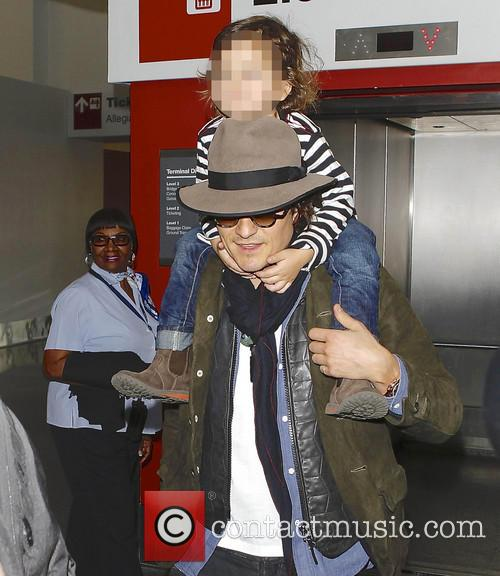 Orlando Bloom And Son At LAX