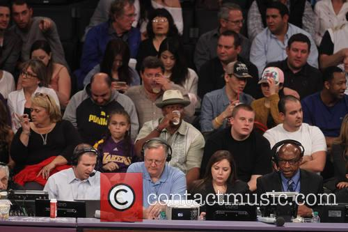ving rhames celebrities at the lakers game 4078385