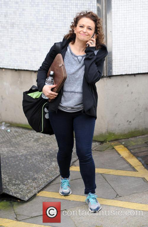 Nadia Sawalha at the ITV studios