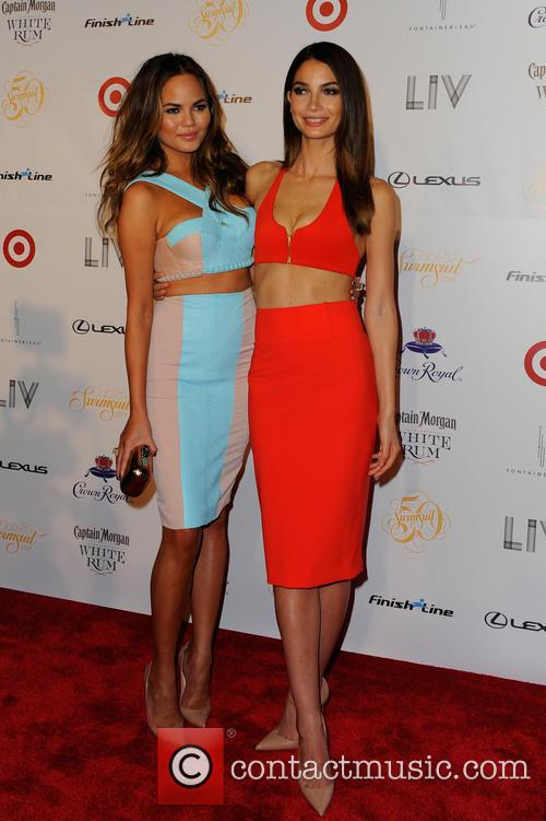 Chrissy Teigen and Lily Aldridge 1