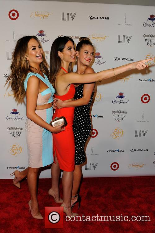 Models Chrissy Teigen, Lily Aldridge and Nina Agdal 2