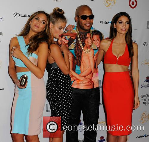 Chrissy Teigen, Nina Agdal, Flo Rida, and Lily Aldridge