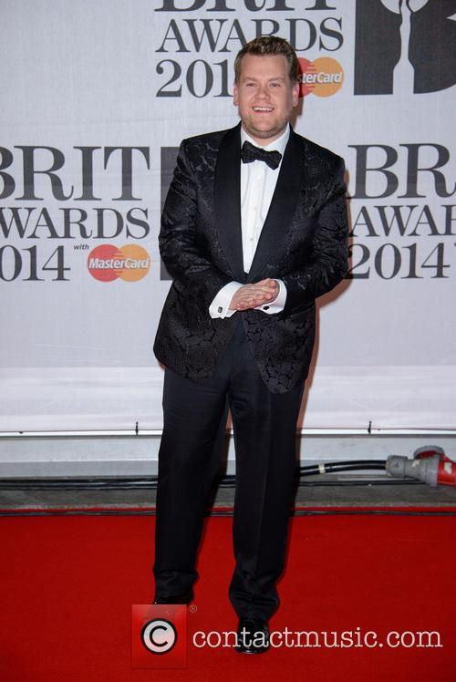 James Corden at the Brit awards