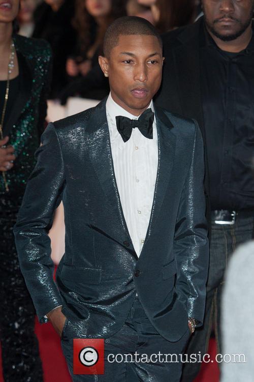 Pharrell Williams at the Brit Awards