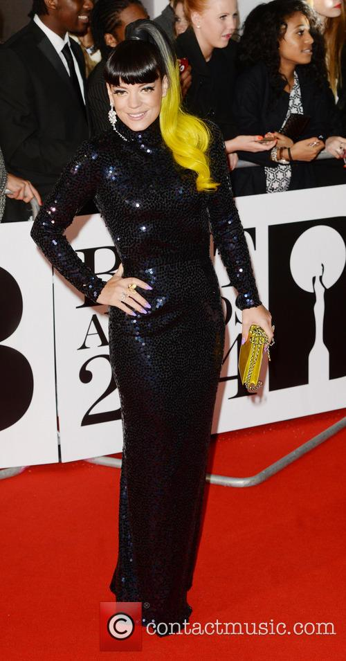 Lilly Allen at the Brit Awards