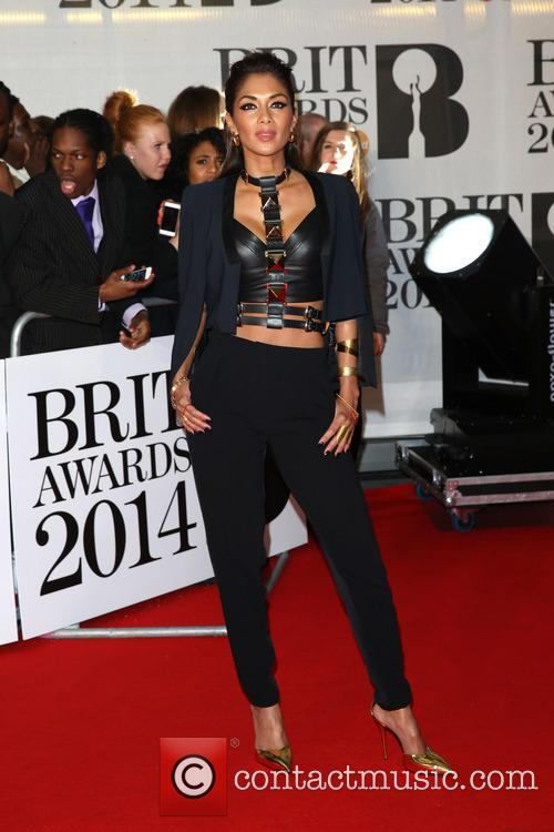 Nicole Sherzinger at the Brit Awards