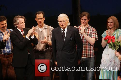 Hunter Foster, Bartlett Sher, Michael X. Martin, Robert James Waller and Derek Klena 2