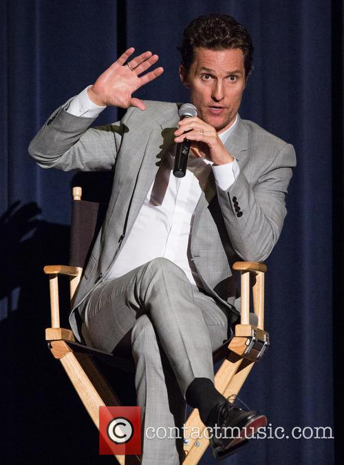Matthew McConaughey attends a Q&A session for Dallas...