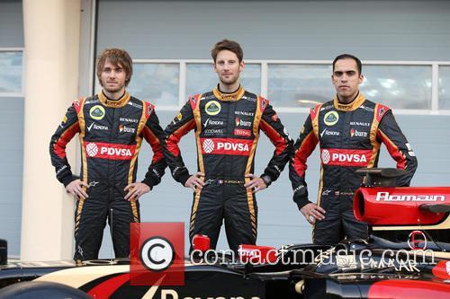 Charles Pic, Romain Grosjean and Pastor Maldonado 7