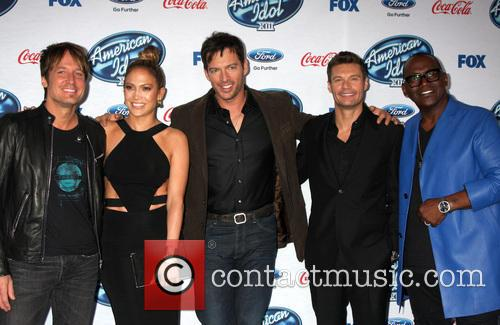 Keith Urban, Jennifer Lopez, Harry Connick Jr, Ryan Seacrest and Randy Jackson 6