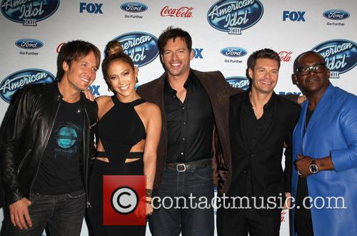 Keith Urban, Jennifer Lopez, Harry Connick, Jr., Ryan Seacrest and Randy Jackson 1