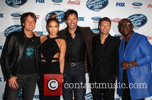 Keith Urban, Jennifer Lopez, Harry Connick, Jr., Ryan Seacrest and Randy Jackson 6