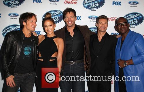 Keith Urban, Jennifer Lopez, Harry Connick, Jr., Ryan Seacrest and Randy Jackson 8