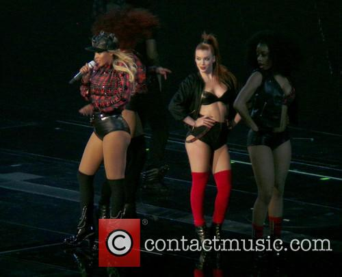 Beyonce performing live in concert