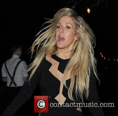 Ellie Goulding attends BRIT Universal after party at one enbankment.