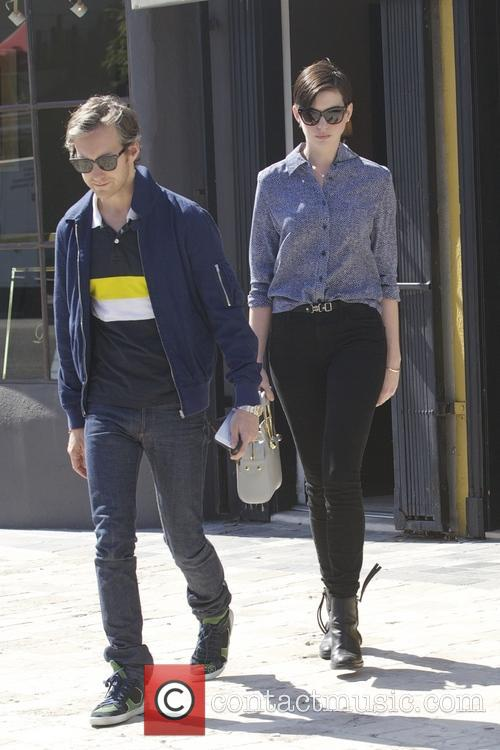 Anne Hathaway shopping in West Hollywood