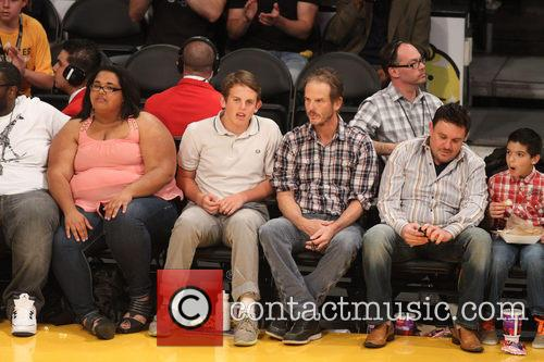 peter berg celebrities courtside at the lakers 4080721