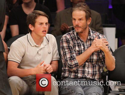 peter berg celebrities courtside at the lakers 4080726