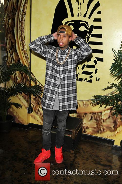 Tyga at the Exclusive Press Preview Of Tyga's...