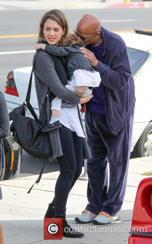 Jessica Alba, Haven Warren and Michael Warren 1