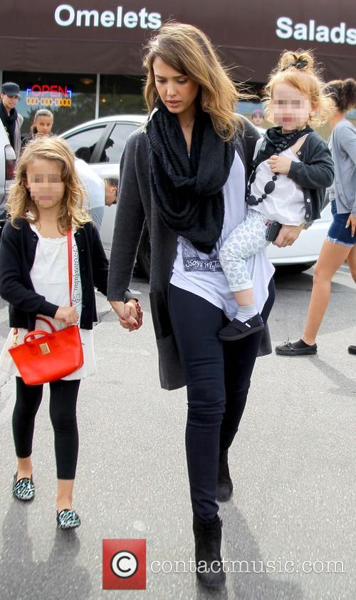 Jessica Alba, Haven Warren and Honor Warren 9