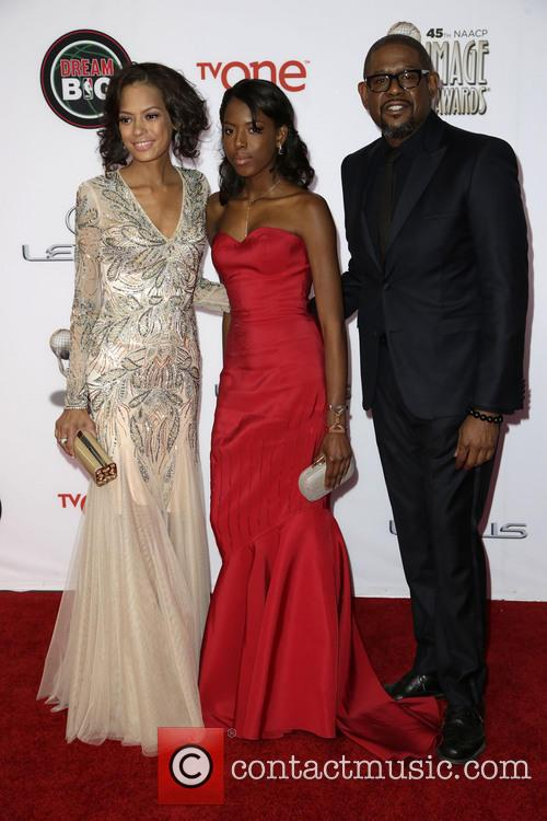 Keisha Whitaker, Autumn Whitaker and Forest Whitaker 2