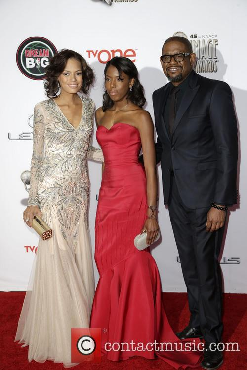 Keisha Whitaker, Autumn Whitaker and Forest Whitaker 3