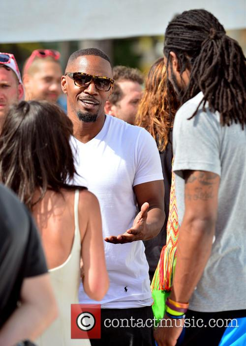 Jamie Foxx and Richard Sherman 2