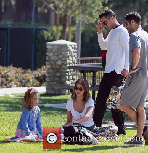 Jessica Alba, Honor Warren, Cash Warren and Josh Alba