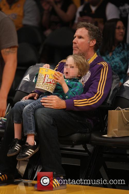 Celebrities At Lakers Game