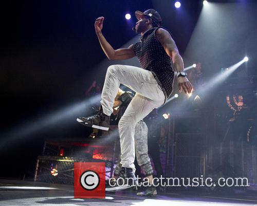 Jason Derulo performs to a sold-out crowd in...