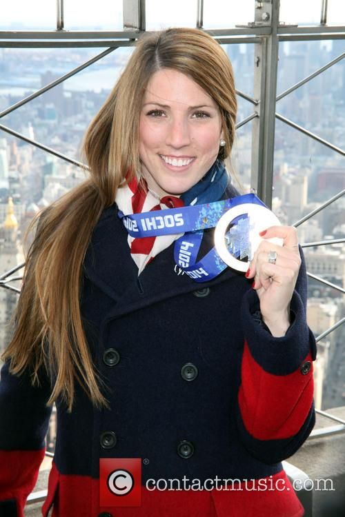 Olympic Medalist Erin Hamlin Visits The Empire State...