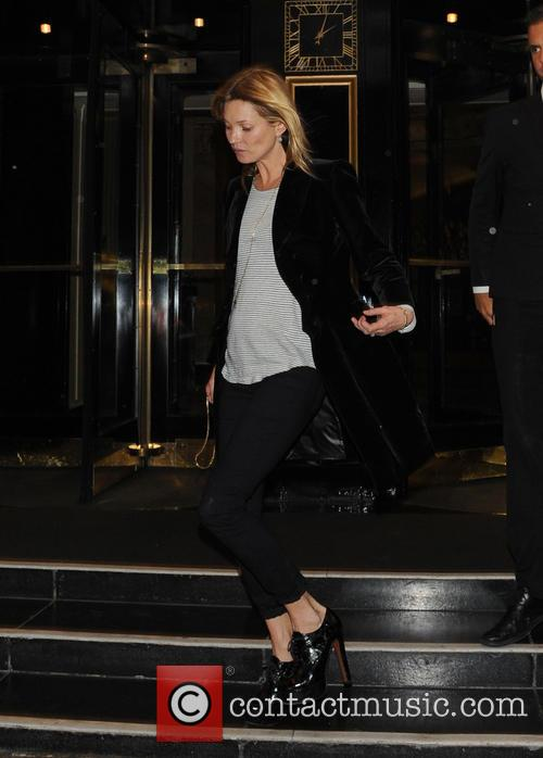 Kate Moss Leaves The Dorchester
