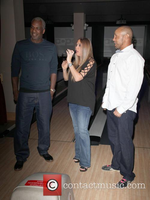 Charles Oakley, Samantha Cole and John Starks