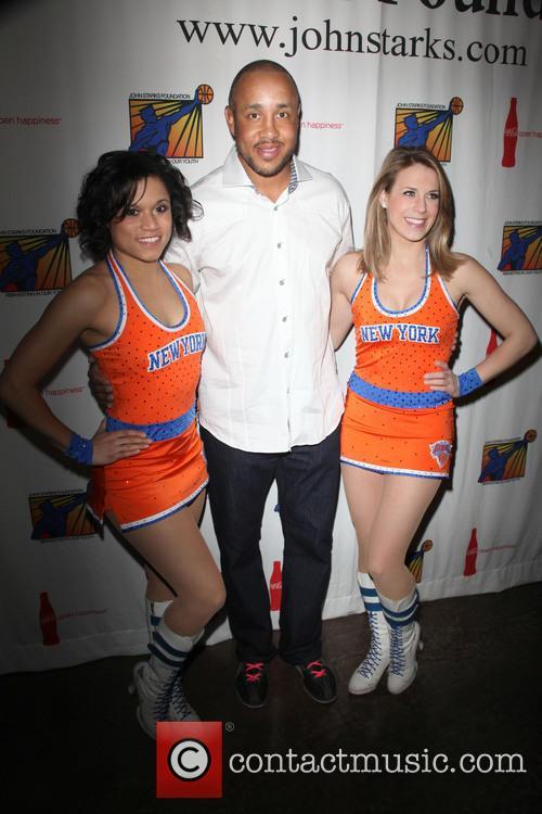 John Starks and Knicks City Dancers 6