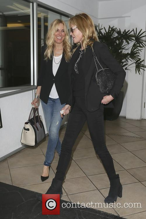 Melanie Grifith Leaving E Baldi Restaurant